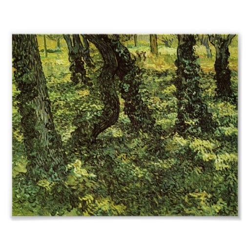 Van Gogh - Trunks of Trees with Ivy Poster