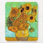 Van Gogh - Twelve Sunflowers Mouse Pad