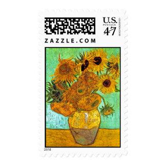Van Gogh - Twelve Sunflowers Postage