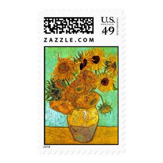 Van Gogh - Twelve Sunflowers Stamp