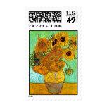 Van Gogh Twelve Sunflowers Postage Stamp