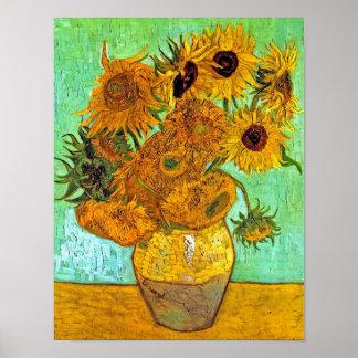 Van Gogh - Twelve Sunflowers Poster