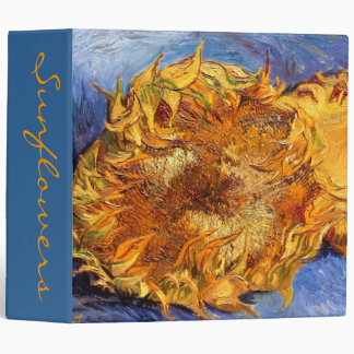 Van Gogh: Two cut Sunflowers Binder