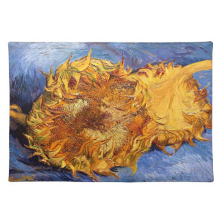 Van Gogh: Two cut Sunflowers Cloth Placemat