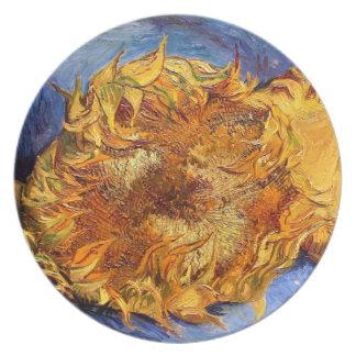 Van Gogh: Two cut Sunflowers Plate