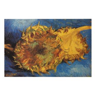 Van Gogh Two Cut Sunflowers, Vintage Fine Art