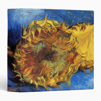 Van Gogh Two Cut Sunflowers, Vintage Fine Art 3 Ring Binder