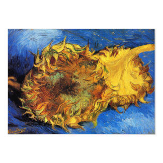 Van Gogh Two Cut Sunflowers, Vintage Fine Art Card