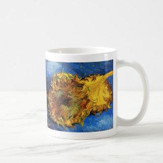 Van Gogh Two Cut Sunflowers, Vintage Fine Art Coffee Mug