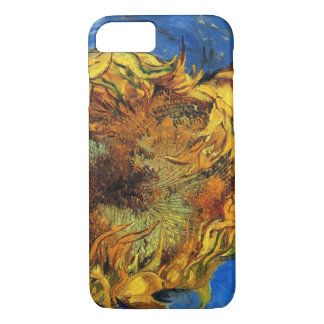 Van Gogh Two Cut Sunflowers, Vintage Fine Art iPhone 8/7 Case