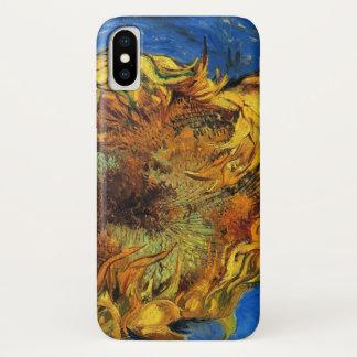 Van Gogh Two Cut Sunflowers, Vintage Fine Art iPhone X Case