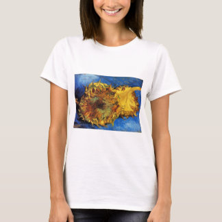 Van Gogh Two Cut Sunflowers, Vintage Fine Art T-Shirt