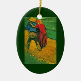 Van Gogh Two Lovers Ceramic Ornament