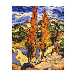 Van Gogh - Two Poplars on a Hill Canvas Print