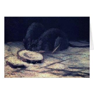 Van Gogh - Two Rats Greeting Card
