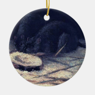 Van Gogh - Two Rats Christmas Tree Ornaments