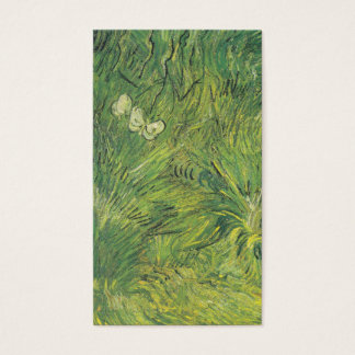 Van Gogh | Two White Butterflies Business Card