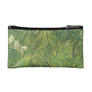Van Gogh | Two White Butterflies Makeup Bag