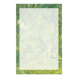Van Gogh   Two White Butterflies Stationery