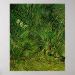 Van Gogh Two White Butterflies, Vintage Fine Art Posters