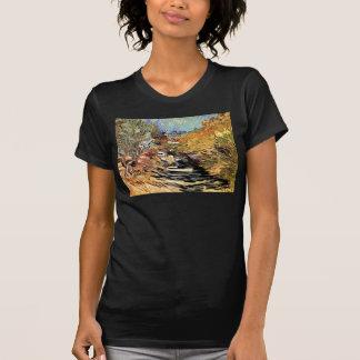 Van Gogh - un camino en Santo-Remy con la figura Playeras