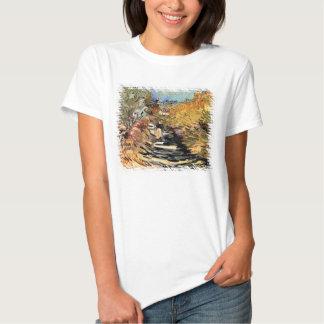 Van Gogh - un camino en Santo-Remy con la figura Remera