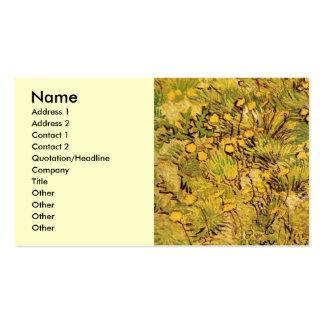Van Gogh un campo de flores amarillas, arte del vi Tarjeta Personal
