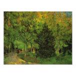 Van Gogh un carril en el jardín público en Arles Invitación 10,8 X 13,9 Cm