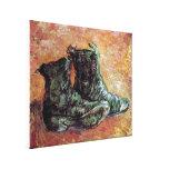 Van Gogh - un par de zapatos Impresiones En Lona