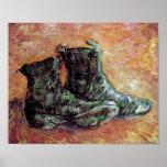 Van Gogh - un par de zapatos Póster