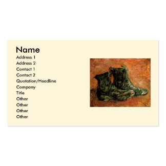 Van Gogh, un par de zapatos, todavía del vintage v Plantilla De Tarjeta De Negocio
