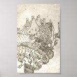 Van Gogh - una casa en Auvers Poster