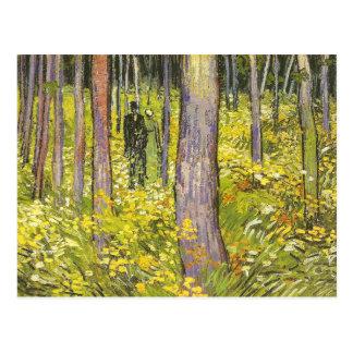 Van Gogh Undergrowth, Two Figures (F773) Fine Art Postcard