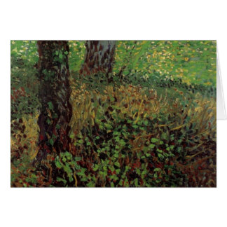 Van Gogh Undergrowth, Vintage Impressionism Art Card