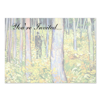Van Gogh - Undergrowth With Two Figures 5x7 Paper Invitation Card