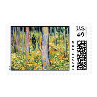 Van Gogh - Undergrowth With Two Figures Postage Stamp