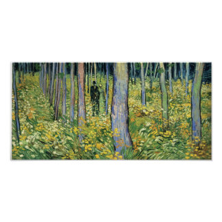 Van Gogh - Undergrowth with Two Figures Poster