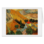 Van Gogh Valley with Ploughman (F727) Greeting Card