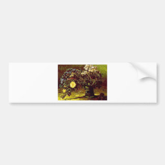 Van Gogh Vase Blossoms Flowers Vintage Painting Bumper Sticker