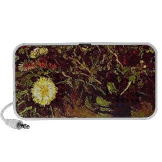 Van Gogh Vase Blossoms Flowers Vintage Painting Portable Speakers