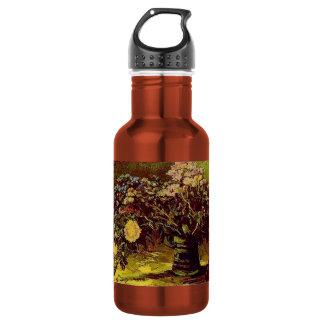 Van Gogh Vase Blossoms Flowers Vintage Painting Stainless Steel Water Bottle