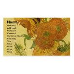 Van Gogh: Vase Fifteen Sunflowers Vintage Fine Art Business Card Templates