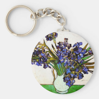 Van Gogh Vase of Irises Key Chain