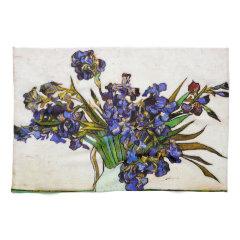 Van Gogh Vase of Irises Kitchen Towels