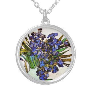 Van Gogh Vase of Irises Necklace