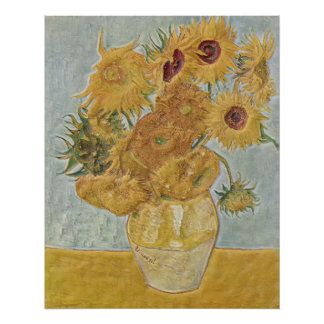Van Gogh - Vase Twelve Sunflowers Poster