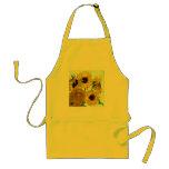 Van Gogh: Vase Twelve Sunflowers Vintage Fine Art Aprons
