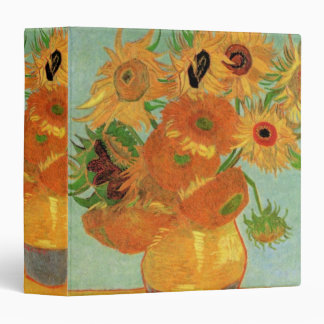 Van Gogh Vase with 12 Sunflowers, Flowers Fine Art Binder