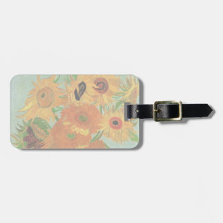 Van Gogh Vase with 12 Sunflowers, Flowers Fine Art Tag For Luggage