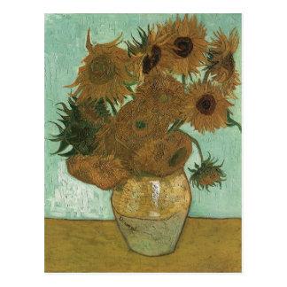 Van Gogh Vase with 12 Sunflowers Postcard